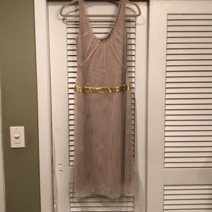Vera Wang champagne colored tulle cocktail dress